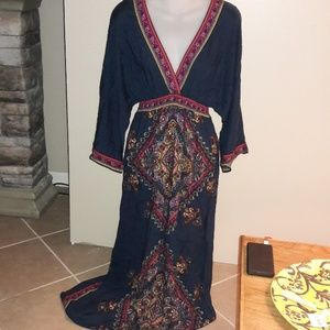 Womens sz M Flying Tomatoe boutique maxi dress